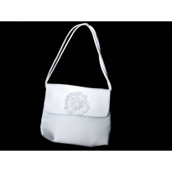 White Handmade First Holy Communion Handbag Style EMI 09