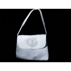 White Handmade First Holy Communion Handbag Style EMI 12