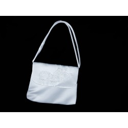 White Handmade First Holy Communion Handbag Style EMI 14