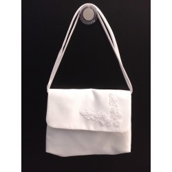 White Handmade First Holy Communion Handbag Style EMI 16