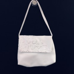 White Handmade First Holy Communion Sequin Handbag Style EMI 18