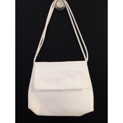 White Handmade First Holy Communion Handbag Style EMI 19