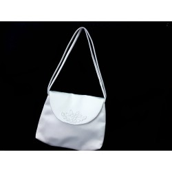 White Handmade First Holy Communion Handbag Style EMI 23