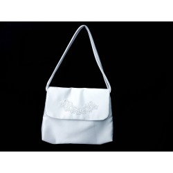 White Handmade First Holy Communion Handbag Style EMI 25