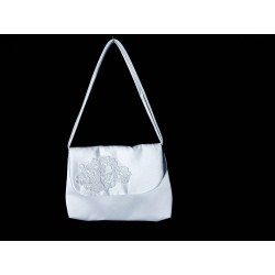 White Handmade First Holy Communion Handbag Style EMI 35