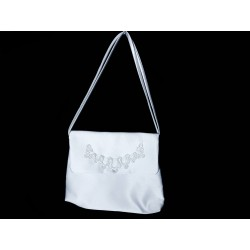 White Handmade First Holy Communion Handbag Style EMI 37