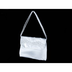 White Handmade First Holy Communion Handbag Style EMI 40