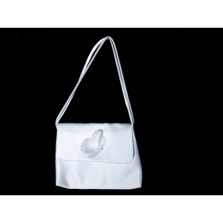 White Handmade First Holy Communion Handbag Style EMI 54