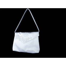 White Handmade First Holy Communion Handbag Style EMI 56