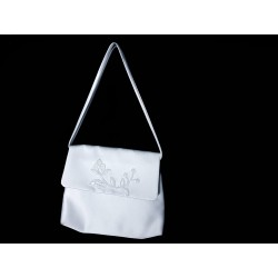 White Handmade First Holy Communion Handbag Style EMI 57