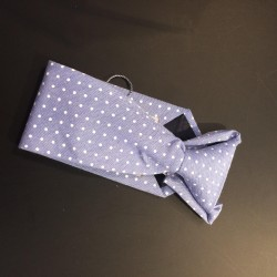 Light Blue Polka Dots Holy Communion/Special Occasion Boys Tie Style 10-08008D