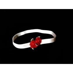 White/Red Handmade Special Occasion Headband Style HEADBAND 20