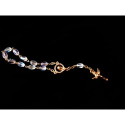 Transparent/Gold Baptism Baby Bracelet 10th Rosary Style ROSARY 11