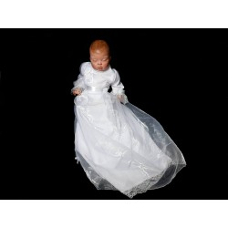 White Christening Baby Girl Gown Style KATE