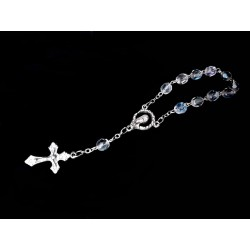Transparent/Silver Baptism Baby Bracelet 10th Rosary Style ROSARY 12