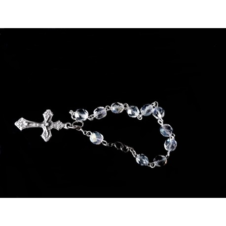 Transparent/Silver Baptism Baby Bracelet 10th Rosary Style ROSARY 13