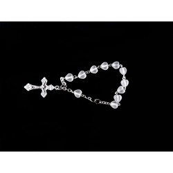 Silver Baptism Baby Bracelet 10th Rosary Style ROSARY 15