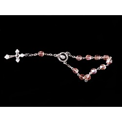 Pink/Silver Baptism Baby Bracelet 10th Rosary Style ROSARY 16
