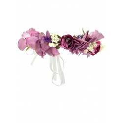 Purple Flower Crown for Girls Holy Communion/Special Occasion FC02