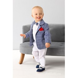 Blue/White Baby Boy Special Occasion Outfit Style A007