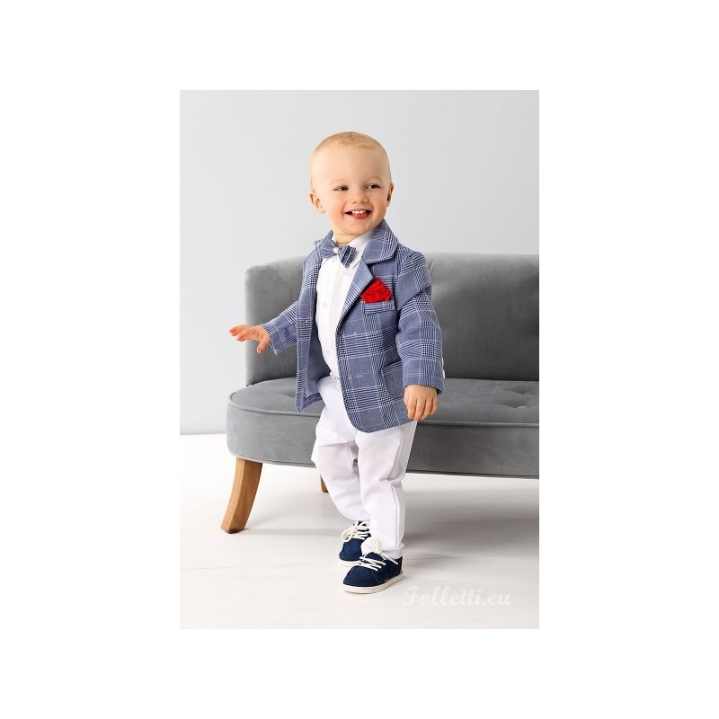 18a0fb0c1 so cheap ee88a 9142f baby boy 6pcs white suit christening pageboy ...