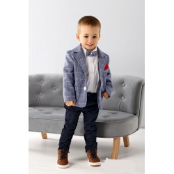 Blue/Navy Baby Boy Special Occasion Outfit Style A007+
