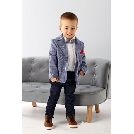 da06e08c6d Blue/Navy Baby Boy Special Occasion Outfit Style A007+