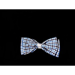Blue Chequered Baby Boy Christening/Baptism Bow Tie Style WM008 BLUE