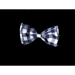 Navy/White Chequered Baby Boy Christening/Baptism Bow Tie Style WM008 NAVY/WHITE