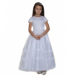 White Communion Dress by Sarah Louise style 090010
