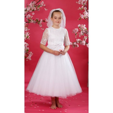 Celebrations First Holy Communion Dress with Bag Style CALATHEAS