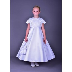 Beautiful Poinsettia Communion Dress with Bolero Style ST1315A