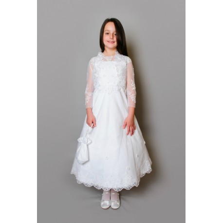 Beautiful Poinsettia Communion Dress with Bolero Style CT5081A Christina