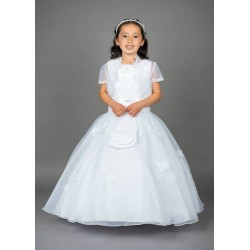Beautiful Poinsettia Communion Dress with Bolero Style CT5130JM-A Fidelma