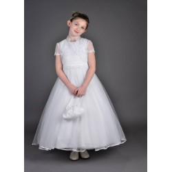 Beautiful Poinsettia Communion Dress with Bolero Style CT5106A