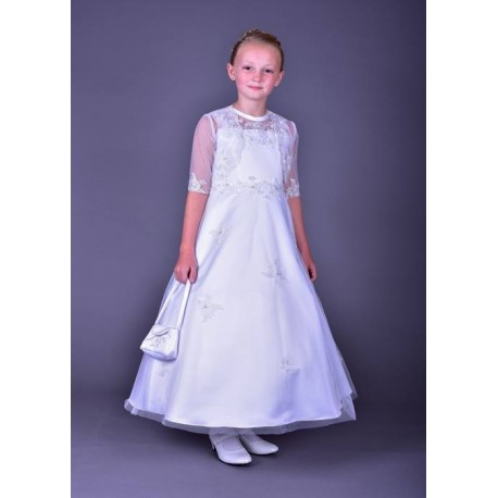 Pretty Poinsettia Communion Dress with Bolero Style CT5111A Olivia