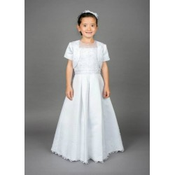 Beautiful Poinsettia Communion Dress with Bolero Style CT5133A Scarlet