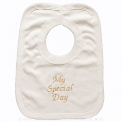 Ivory Cotton My Christening Day Bib Style CRB3