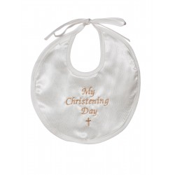 Ivory Baby Christening Bib for Boys and Girls CRB2