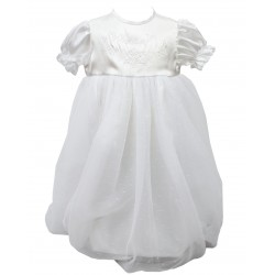 White Baby Girl Christening Gown Style G005