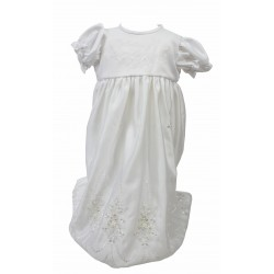 White Baby Girl Christening Gown Style G008