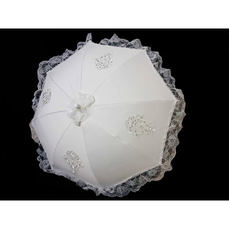 Ivory First Holy Communion Umbrella Style FANCY PARASOL