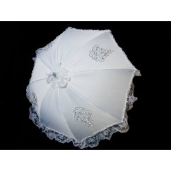 White First Holy Communion Umbrella Style FANCY PARASOL