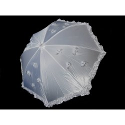 White First Holy Communion Parasol Style CU501