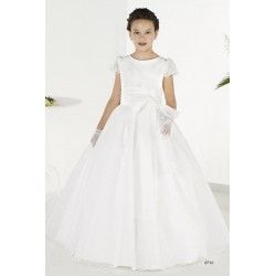 Lovely White First Holy Communion Dress Style 8710