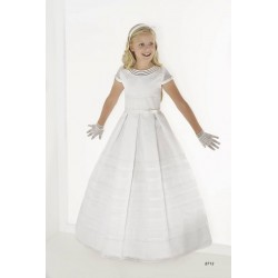 Unusual White First Holy Communion Dress Style 8713