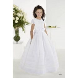 Mat White First Holy Communion Dress Style 8729