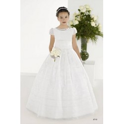 Beautiful White First Holy Communion Dress Style 8718