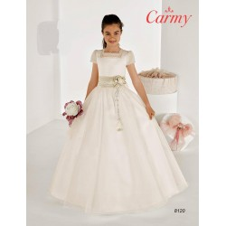 Elegant Ivory First Holy Communion Dress Style 8120