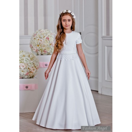 Elegant Satin Handmade First Holy Communion Dress Style MARLENE